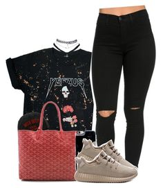 """Untitled #1195"" by princess-alexis18 ❤ liked on Polyvore featuring Goyard, adidas and Wet Seal"