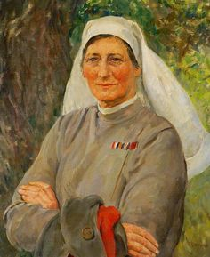 Caroline Amey Ruark, Matron of St Audry's Hospital (1929–1947) by Thomas Cantrell Dugdale (British 1880–1952)