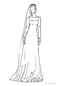 2001 Mette-Marit of Norway wedding dress illustration from @ZalandoUK