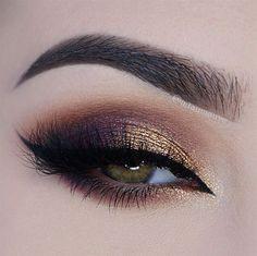 gold and plum smokey eye ~  we ❤ this! moncheribridals.com
