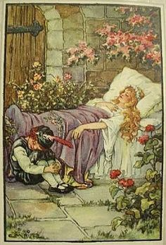 "Illustration by Warwick Goble for ""Snow-White and Rose-Red"", 1923. From 'The Fairy Book' by Dinah Maria Mulock. - Google zoeken"