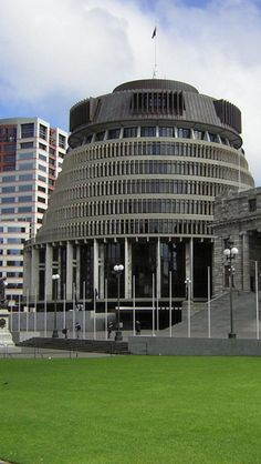 Bowen House Beehive Parliament Wellington, North Island New Zealand Capital Of New Zealand, Visit New Zealand, North Island New Zealand, South Island, Wellington New Zealand, Wellington City, Places Ive Been, Places To Go, New Zealand Houses