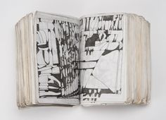 """Takanori Herai.  Geometric patterns of obscure meaning fill sheets of note paper, a bundle of nearly 1,000 sheets of which is loosely tied with a black string.  According to the staff of the residential facility where Herai lives.  """"The patterns are actually words.  This is his diary.""""  This diary is written on both sides of the paper, and aside from the dates and temperature for each day, the content is exactly the same."""