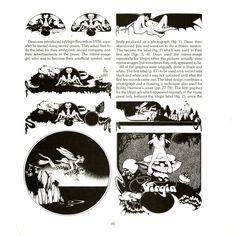 Views book page 85 Roger Dean, Virgin Records, Book Pages, Label Design, Books, Poster, Libros, Book, Book Illustrations