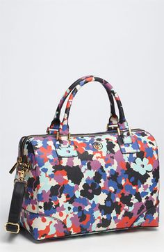 Tory Burch Floral Camouflage Robinson Satchel - I've never owned a floral print purse before!