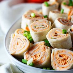 Five Ingredient Buffalo Chicken Pinwheels - The easiest appetizer that's SO good they'll disappear in minutes!