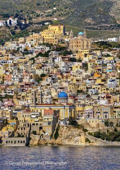 Ermoupolis Village in Syros island, Greece Wonderful Places, Beautiful Places, Beautiful Pictures, Places Around The World, Around The Worlds, Syros Greece, Places In Greece, Greek Islands, Beautiful Islands