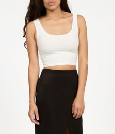 The essential basic crop tank, Made in LA from #organic cotton by Groceries Apparel