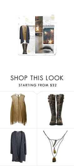 """S T A R S in my E Y E S"" by nadinekenific ❤ liked on Polyvore featuring moda, Rick Owens, Pieces ve 1928"