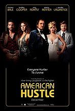 2013 crime comedy-drama loosely based on the FBI ABSCAM Op of the late 1970s. Starring Christian Bale and Amy Adams as two cons who are forced by FBI agent (Bradley Cooper) to set up a sting operation on corrupt politicians, including the mayor of Camden, New Jersey, (Jeremy Renner). Jennifer Lawrence plays the unpredictable wife of Bale's character.