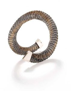 Bangle | Hanne Behrens.  Sterling, oxidized sterling silver and copper.  1978