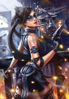 Future Girl, Cyberpunk, Futuristic, Concept Art by Bryan Marvin P. Sola*