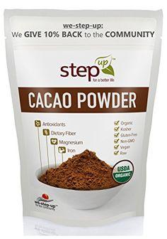 StepUp Raw Organic Cacao Powder 1lb - Non-GMO Kosher Vegan Gluten Free - 1 Pound/16 oz StepUp http://www.amazon.com/dp/B00W1TK7X8/ref=cm_sw_r_pi_dp_9tVdwb1YDCW7F