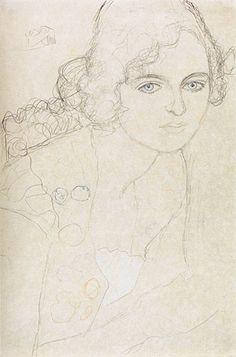 gustav klimt pencil drawings | Gustav Klimt (1862-1918) | Charcoal ...