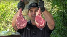 Two tomahawk ribeye steaks grilled to perfection on the Weber Kettle.  This is part of my ExMark Outdoor Living Series! How To Grill Steak, Beef Steak, Barbecue Recipes, Bbq, Tomahawk Ribeye, Weber Kettle, Smoking Meat, Served Up, Steaks