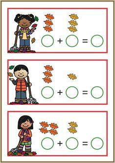 Spellen thema herfst Literacy And Numeracy, Kindergarten Math Worksheets, Early Literacy, Body Parts Preschool, Nursery Activities, Grande Section, Fall Preschool, Math Projects, Math Art