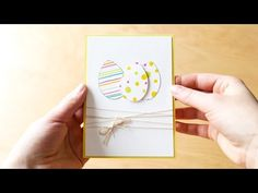 easy to make easter card - YouTube