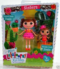 *Mini Lalaloopsy Littles Sisters* PRAIRIE DUSTY TRAILS & TROUBLE DUSTY TRAILS