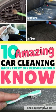 Diy Car Cleaning, House Cleaning Tips, Diy Cleaning Products, Deep Cleaning, Spring Cleaning, Car Interior Cleaning, Clean Your Car, Girly, Car Hacks