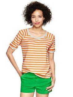 Striped sweatshirt T | Gap  DON'T BE AFRAID TO MIX BOLD COLORS + STRIPES