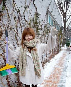 Juniel asks her fans to sweep up snow for her 'Bad Guy Project'