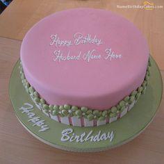 Write name on Fondant Birthday Cake For Husband - Happy Birthday Wishes