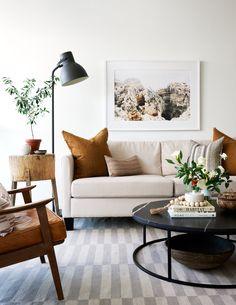Condo Living, Living Room Decor, Beige Sofa Living Room, Living Rooms, Hektar Ikea, Living Room Upgrades, White Paint Colors, Home Hardware, Minimalist Decor