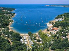 Information about campsite Lanterna close to Porec, the biggest camp in Croatia. Booking of mobile homes in Camp Lanterna in Porec online on our page. Camping Resort, Europe Destinations, Holiday Destinations, Porec Croatia, Pula, Road Trippin, Pebble Beach, Glamping, Resorts