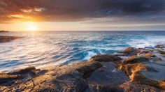 sea sunset landscape hd wallpaper download