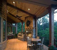 Fireplace grill combo
