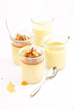 Pumpkin Pots de Creme with Salted Caramel and Pecans - Bell'alimento