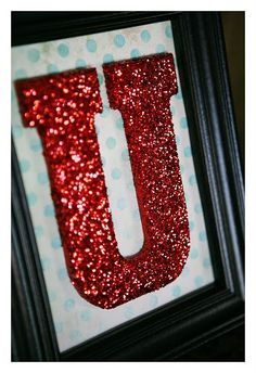Glitter letters in frames