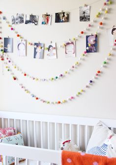 DIY felt nursery garland