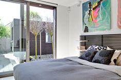 Tete de lit IKEA peinte noir