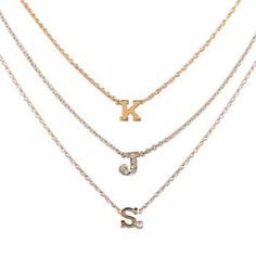 zoe chicco tiny initial necklace  $427
