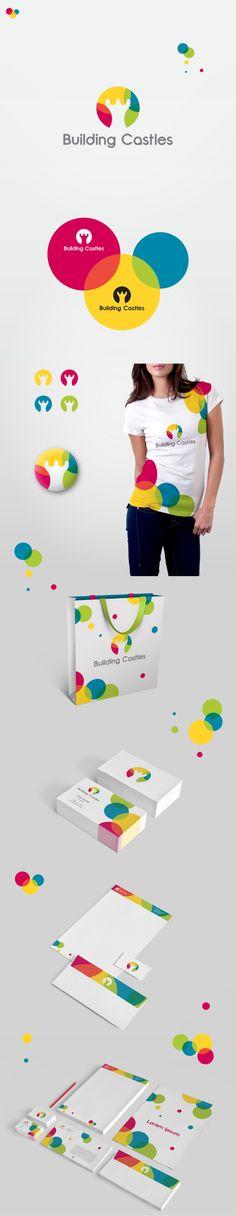 Building Castles - Corporate Identity Concept by Maroš Em, via Behance...love the use of color