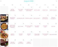 Unsure of what workouts to do when? Look no further than my Fitness Calendar…