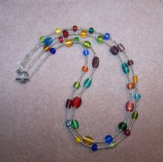 Double Strand Glass Beaded Necklace