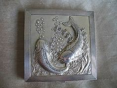 Fabulous and rare Asprey solid silver compact