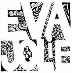 name zentangle. i know i have pinned this before but doing this for student's portfolio.