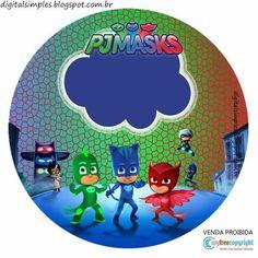 Kit de Super héroes en Pijamas para Imprimir Gratis. Sons Birthday, Boy Birthday Parties, Birthday Fun, Pjmask Party, Party Kit, Party Ideas, Pj Masks Printable, Party Printables, Free Printable