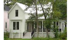 Household: In love with this design and the layout is great too! Of course the front needs better color options for curb appeal and more of the Southern charm, and I'd love for the porch to come around the whole front (including the little bay window) - needs black roof and black shutters