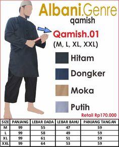 BAJU GAMIS PRIA- GAMIS PAKISTAN by SWARNA IKHWAN- QAMISH.01 HITAM, DONGKER,MOKA,PUTIH