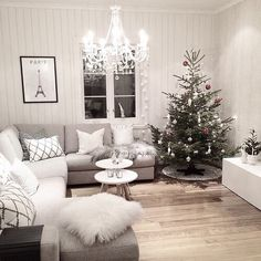 Living room with X-mas tree ♥