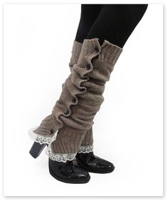 Lace Leg Warmers--Boot Cozies Lace and Button Leg Warmers Boot Socks (Heather Brown) Boot Cuffs, Boot Socks, Diy Fashion, Winter Fashion, Womens Fashion, Workwear Fashion, Fashion Blogs, Fashion Trends, Boots With Leg Warmers