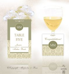 'SAGE' #Wedding Invitations and Stationery collection.  An elegant design that blends beautifully with white, ivory, cream, bronze, sage, birch and vintage coloured green hues. | © Julinda at Magnolia & Rose Weddings