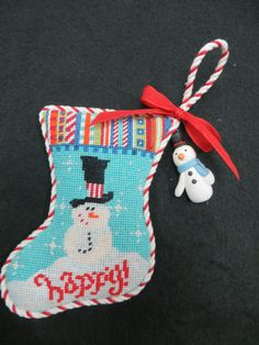 Bright snowman minisock