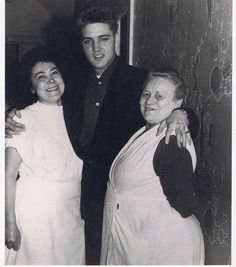 """On the back of this picture it says;  """"Elvis Presley greets the lavatory attendants in Munich in March of 1959""""."""