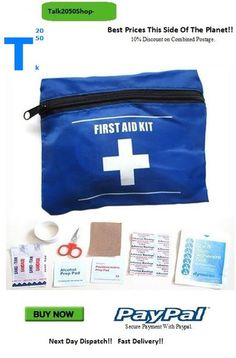 Emergency Bag First Aid Kit Travel Sport Survival Pack. Plus Band-Aids. Free First Aid Kit, First Aid Kit Travel, Emergency Bag, You Got This, Packing, Survival, Sport, Band, Bag Packaging