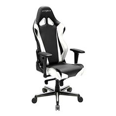 DXRacer Racing Series Racing Seat Office Chair Gaming Ergonomic Adjustable Computer Chair with - Included Head and Lumbar Support Pillows (Black,Orange) Girls Desk Chair, Game Room Chairs, Office Gaming Chair, Portable High Chairs, Ergonomic Computer Chair, Chair Photography, Library Chair, Best Pc, Cool Tech Gadgets
